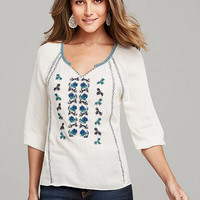 Mariah Embroidered Peasant Blouse