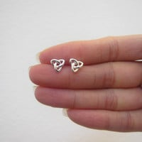 Sterling Silver Celtic Knot Stud Earrings , Celtic Jewelry, Celtic Earrings, Everyday Jewelry, Sister gift, boyfriend Girlfriend
