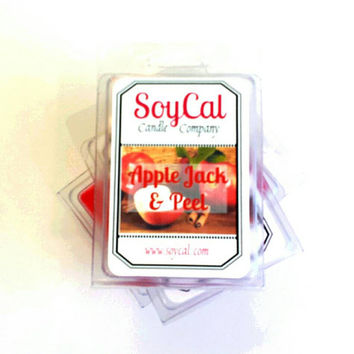 Apple Jack and Peel Soy Wax Melt - - wax melter - scented wax - apple cinnamon