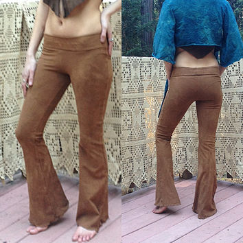Custom Made to Order Prana Yoga Pant Regular Boot Cut Flair Strechy Organic Hemp and Cotton Dyed with Herbs