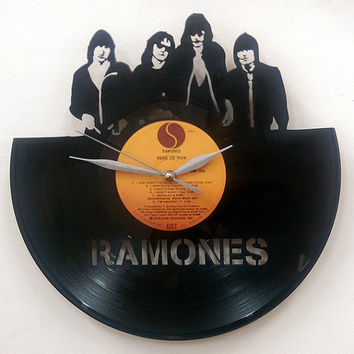 Ramones Wall Art -Vinyl LP Record Clock or Framed -Great Rock'n'Roll Gift