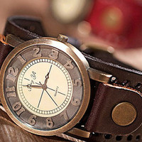NT0049 Retro leather strap watch