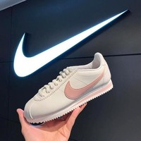 Nike Classic Cortez Betrue Fashion Women Men Casual Sport Shoes Sneakers White(Pink Hook) I-AA-SDDSL-KHZHXMKH