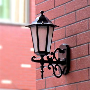 Modern Outdoor Wall Lights Garden Pathway Antique Wall Sconce Aluminum Vintage Country Chandelier Lighting Black LED Indoor Lamp