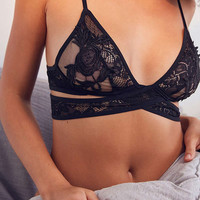 Out From Under Wrap Applique Bra | Urban Outfitters