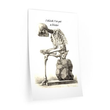 Wall Decals with Skeleton Art Print