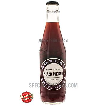 Boylan's Black Cherry Soda 12oz Glass Bottle