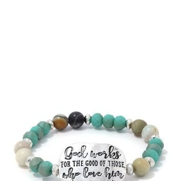 Romans 8:28 Beaded Stretch Bracelet ()