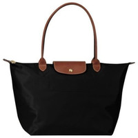 Longchamp Le Pliage black tote bag L