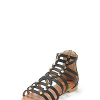 Faux Leather Studded Gladiator Sandals