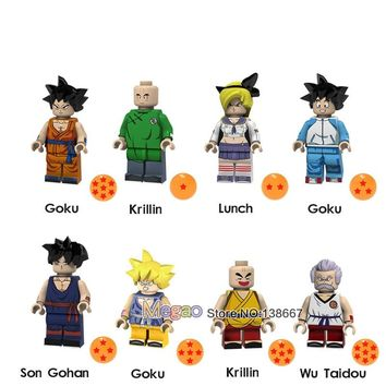Single Sale Legoingly Dragon Ball Goku Krillin Lunch Son Gohan Wu Taidou Building Blocks Educational Friends Toys for Children