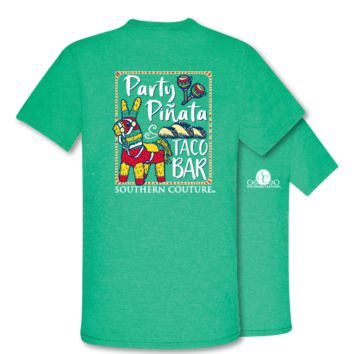 Southern Couture Party Pinata Taco Bar Fiesta Front Print T-Shirt