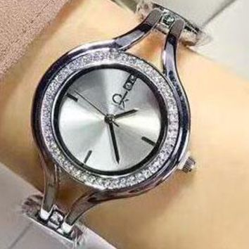 Calvin klein Fashion Watch Ladies Men Watch Little Ltaly Stylish Watch Sliver+Black G-YF-GZYFBY
