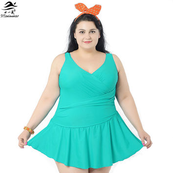 Women Summer Dress One Piece Swimsuits Big Women Extra Large Size Swimwear Big Girl Swimwear Cover Ups Plus Size XXXXL 6XL