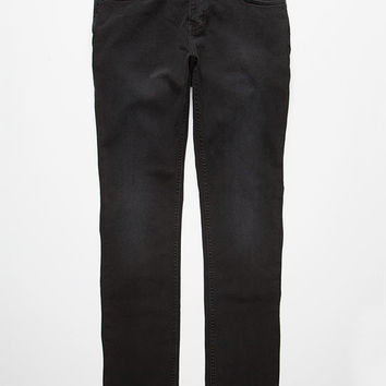 Kr3w Mens Slim Jeans Black Denim  In Sizes