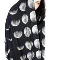 Oversized Moon Phase Scarf