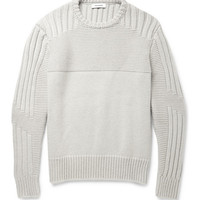 Tim Coppens - Panelled-Knit Merino Wool and Cashmere-Blend Sweater | MR PORTER