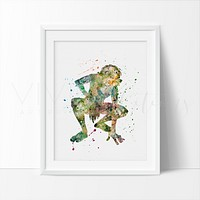 Gollum, Lord of the Rings Watercolor Art Print
