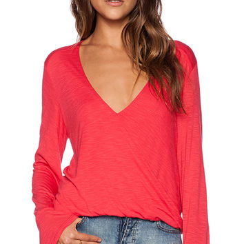 Blue Life Hayley Top in Red