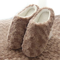 Winter Home Indoor Slippers Home Slippers With Non-Slip Waterproof Family Shoes Indoor Cotton Slippers Female  Slippers