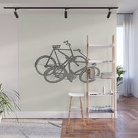 Bicycle, Bicycle, Bicycle Wall Mural by anipani