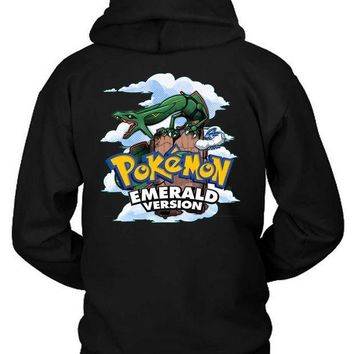 Pokemon Emerald Version Hoodie Two Sided