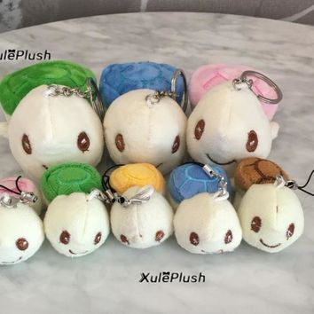 Kawaii Multi-Colors , 2Sizes , 8CM , 4CM Tortoise Stuffed Toy , Turtle Plush Stuffed TOY DOLL ; key chain gift plush toy