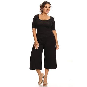 Women's Plus Size Gaucho Pants.   In Sizes From 1XL to 3XL.   Colors:  Black, Brown, Gray, Olive and Navy.
