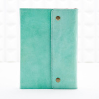 Oh Snap Leather Notebook in Mint - Urban Outfitters