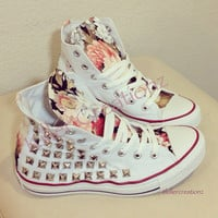 Custom studded Converse Chuck Taylors with by KillerCreationz