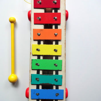 Vintage Original Fisher Price Pull A Tune 1964
