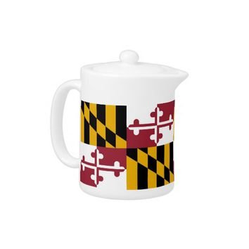 Maryland State Flag Teapot