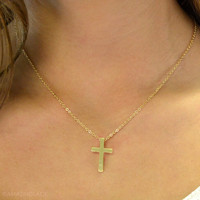 Holy Moly Pretty Gold Cross Necklace
