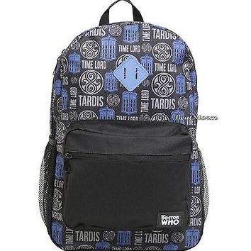 Licensed cool BBC Doctor Dr Who Time Lord Tardis Police  Box School Backpack Book Bag NEW