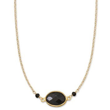 Black is Back Bezel Necklace