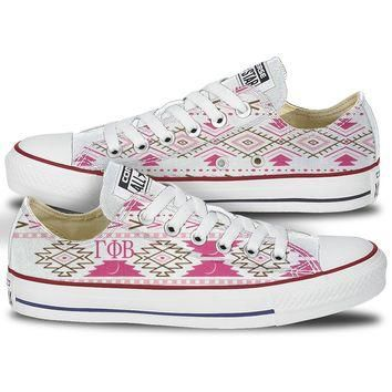 Gamma Phi Beta Tribal Pattern Converse