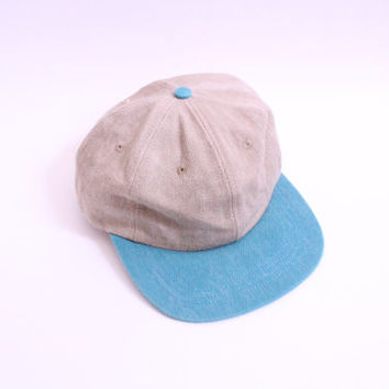 Basic Teal Brim Baseball Cap