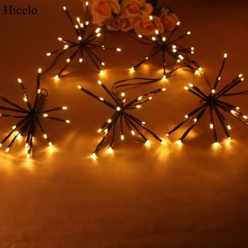 Hicelo Explosion ball light with 100 LED Lights Decoration for Garden Home Christmas Festival Fairy Party 30V DC Output Safety