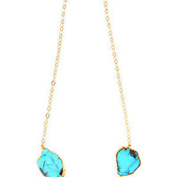 Statement Necklace Gold Wrapped Turquoise: Buy Heather Gardner at CoutureCandy.com