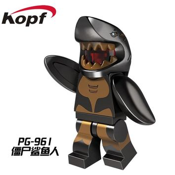 Single Sale Pirates of the Caribbean Ghost Zombie Shark Man Jack Sparrow Orca Bricks Building Blocks Children Toys Gift PG961