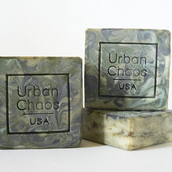 Natural Soap with Linoleic Grape Seed Oil & Organic Olive Oil, Natural Handmade Bath Soap for Dry Skin, Acne, Eczema - Unscented Vegan Soap