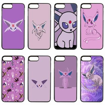 cute kawaii anime  espeon cover case For ipod touch iPhone 4 4s 5 5s 5c SE 6 6s plus 7 7plus 8 8plus X phone caseKawaii Pokemon go  AT_89_9