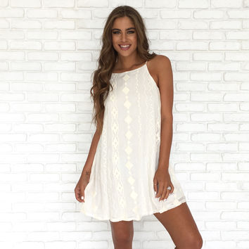 Bright Like A Diamond Dress In Ivory