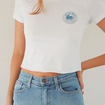 Surf The Waves Cropped Tee
