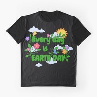 'Earth Day' Graphic T-Shirt by ValentinaHramov
