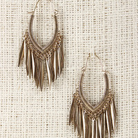 Etched V-Cut Earrings