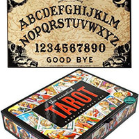 Maven Gifts: Classic Ouija Board Game with The Essential Tarot Kit: Book and Card Set