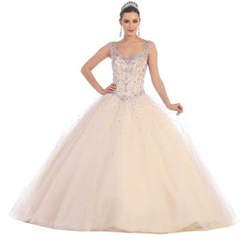 Quinceanera Sweet 16 Ball Gown Prom Long Dress
