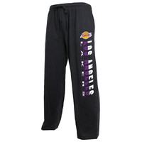 Los Angeles Lakers Concepts Sport Solid Knit Pants - Charcoal -