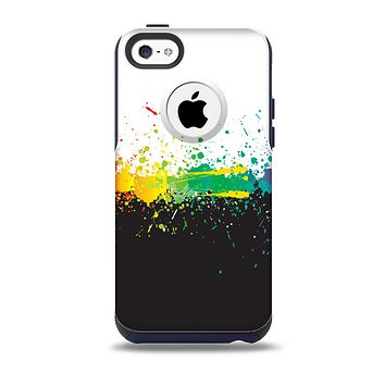 The Rainbow Paint Spatter Skin for the iPhone 5c OtterBox Commuter Case